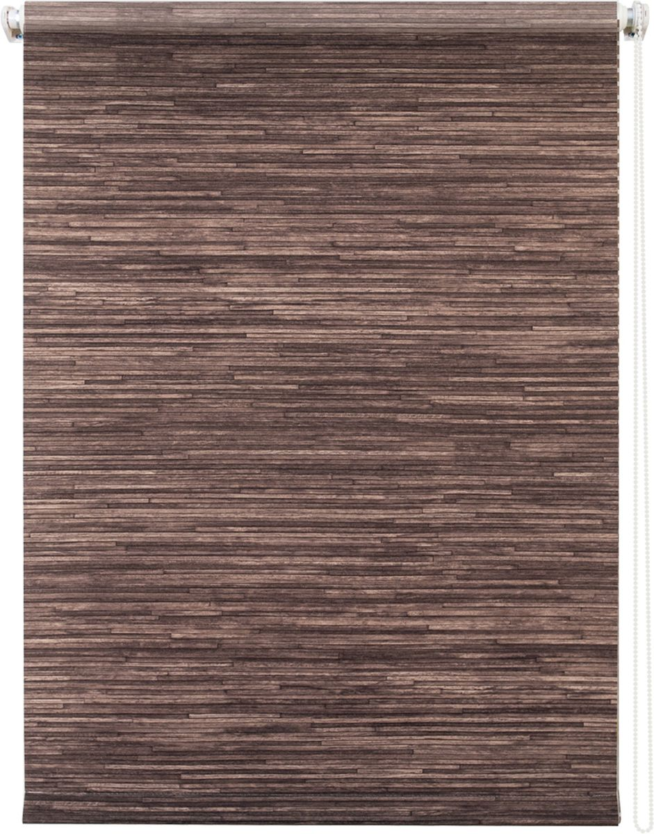 Штора рулонная Уют Натурэль, цвет: шоколад, 140 х 175 см1004900000360Штора рулонная Уют Натурэль выполнена из прочного полиэстера с обработкой специальным составом, отталкивающим пыль. Ткань не выцветает, обладает отличной цветоустойчивостью и хорошей светонепроницаемостью. Изделие выполнено в классическом дизайне, поэтому отлично подойдет и для офиса, и для дома. Штора закрывает не весь оконный проем, а непосредственно само стекло и может фиксироваться в любом положении. Она быстро убирается и надежно защищает от посторонних взглядов. Компактность помогает сэкономить пространство. Универсальная конструкция позволяет крепить штору на раму без сверления, также можно монтировать на стену, потолок, створки, в проем, ниши, на деревянные или пластиковые рамы. В комплект входят регулируемые установочные кронштейны и набор для боковой фиксации шторы. Возможна установка с управлением цепочкой как справа, так и слева. Изделие при желании можно самостоятельно уменьшить. Такая штора станет прекрасным элементом декора окна и гармонично впишется в интерьер любого помещения.