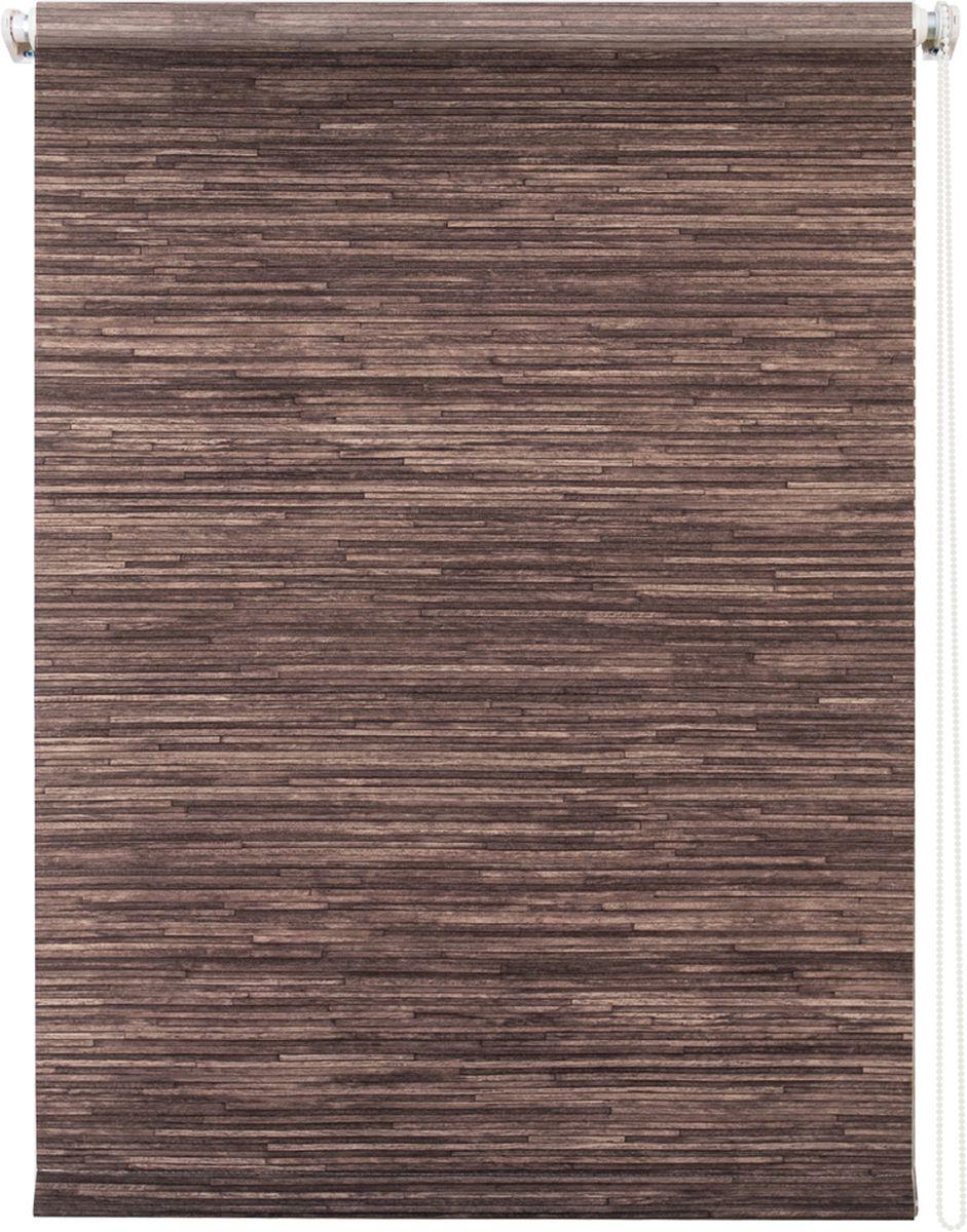Штора рулонная Уют Натурэль, цвет: шоколад, 60 х 175 смK100Штора рулонная Уют Натурэль выполнена из прочного полиэстера с обработкой специальным составом, отталкивающим пыль. Ткань не выцветает, обладает отличной цветоустойчивостью и хорошей светонепроницаемостью. Изделие выполнено в классическом дизайне, поэтому отлично подойдет и для офиса, и для дома. Штора закрывает не весь оконный проем, а непосредственно само стекло и может фиксироваться в любом положении. Она быстро убирается и надежно защищает от посторонних взглядов. Компактность помогает сэкономить пространство. Универсальная конструкция позволяет крепить штору на раму без сверления, также можно монтировать на стену, потолок, створки, в проем, ниши, на деревянные или пластиковые рамы. В комплект входят регулируемые установочные кронштейны и набор для боковой фиксации шторы. Возможна установка с управлением цепочкой как справа, так и слева. Изделие при желании можно самостоятельно уменьшить. Такая штора станет прекрасным элементом декора окна и гармонично впишется в интерьер любого помещения.