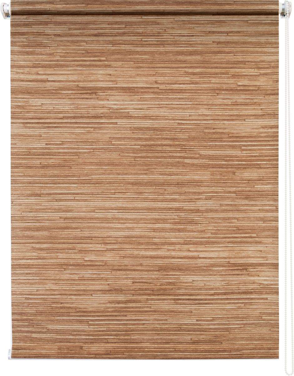 Штора рулонная Уют Натурэль, цвет: коричневый, 140 х 175 смRC-100BPCШтора рулонная Уют Натурэль выполнена из прочного полиэстера с обработкой специальным составом, отталкивающим пыль. Ткань не выцветает, обладает отличной цветоустойчивостью и хорошей светонепроницаемостью. Изделие выполнено в классическом дизайне, поэтому отлично подойдет и для офиса, и для дома. Штора закрывает не весь оконный проем, а непосредственно само стекло и может фиксироваться в любом положении. Она быстро убирается и надежно защищает от посторонних взглядов. Компактность помогает сэкономить пространство. Универсальная конструкция позволяет крепить штору на раму без сверления, также можно монтировать на стену, потолок, створки, в проем, ниши, на деревянные или пластиковые рамы. В комплект входят регулируемые установочные кронштейны и набор для боковой фиксации шторы. Возможна установка с управлением цепочкой как справа, так и слева. Изделие при желании можно самостоятельно уменьшить. Такая штора станет прекрасным элементом декора окна и гармонично впишется в интерьер любого помещения.