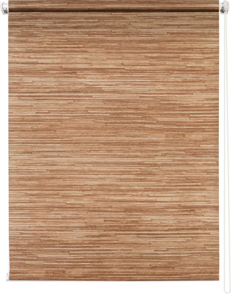 Штора рулонная Уют Натурэль, цвет: коричневый, 60 х 175 смIRK-503Штора рулонная Уют Натурэль выполнена из прочного полиэстера с обработкой специальным составом, отталкивающим пыль. Ткань не выцветает, обладает отличной цветоустойчивостью и хорошей светонепроницаемостью. Изделие выполнено в классическом дизайне, поэтому отлично подойдет и для офиса, и для дома. Штора закрывает не весь оконный проем, а непосредственно само стекло и может фиксироваться в любом положении. Она быстро убирается и надежно защищает от посторонних взглядов. Компактность помогает сэкономить пространство. Универсальная конструкция позволяет крепить штору на раму без сверления, также можно монтировать на стену, потолок, створки, в проем, ниши, на деревянные или пластиковые рамы. В комплект входят регулируемые установочные кронштейны и набор для боковой фиксации шторы. Возможна установка с управлением цепочкой как справа, так и слева. Изделие при желании можно самостоятельно уменьшить. Такая штора станет прекрасным элементом декора окна и гармонично впишется в интерьер любого помещения.