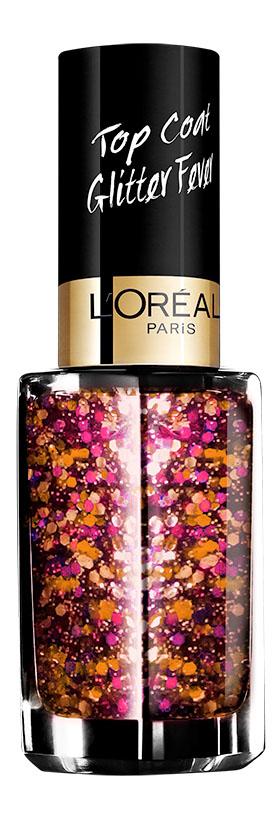 LOreal Paris Верхнее покрытие для ногтей Top Coat, оттенок 953, Болливуд, 5 мл78110Верхнее покрытие Color Riche – самый последний тренд в области маникюра. С помощью уникальной коллекции эффектов теперь возможно придать ногтям совершенно новый, роскошный вид.
