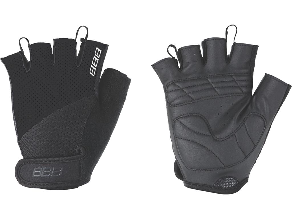 Перчатки велосипедные BBB Chase, цвет: черный. BBW-49. Размер MZ90 blackКомфортные летние перчатки BBB Chase предназначены для более удобного катания на велосипеде. Максимальная вентиляция обеспечивается за счет тыльной стороны перчаток, выполненной из сетчатого материала. Также имеется вставка для удаления влагии пота. Ладонь из материала Serino с гелевыми вставками для большего комфорта. Застежки велкро (Система WristLock) надежно фиксируют перчатки на руке.