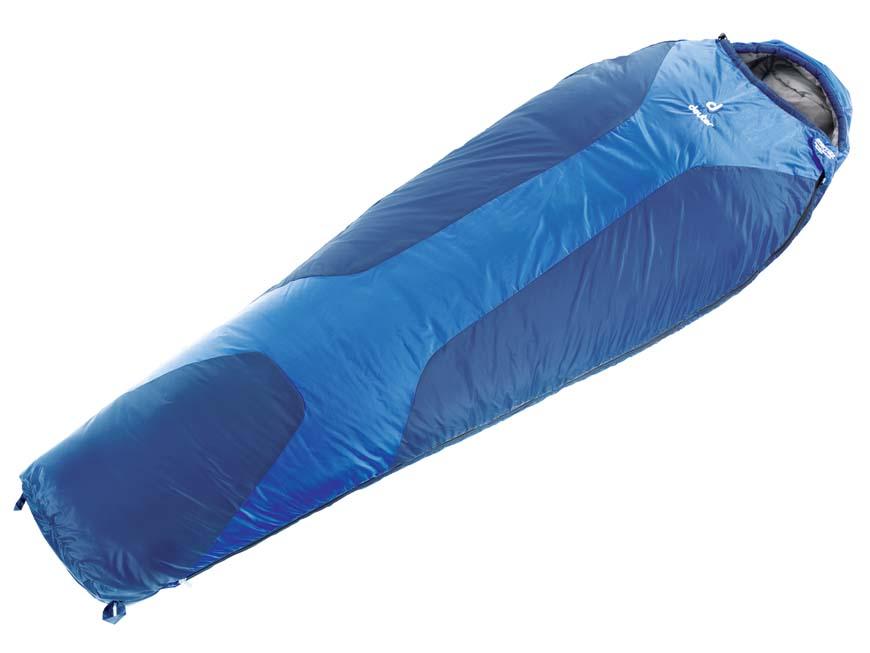 Спальник Deuter Orbit +5, цвет: темно-синий, стальной, правосторонняя молния37400_33100Спальный мешок Deuter Orbit +5- это легкий попутчик для летнего сезона. Имеет утепляющие вставки Body Wormer из флиса в области рук, почек и ступней. Может использоваться как одеяло. Капюшон с двумя стяжными шнурами, накладка вдоль молнии, двусторонняя молния YKK позволяет со стегивать вместе два спальника, компрессионный упаковочный мешок. Конструкция однослойная.