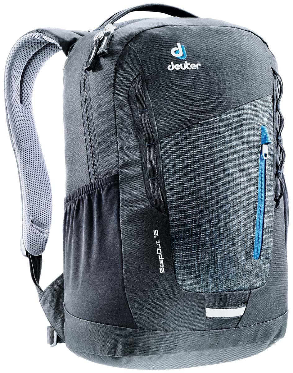 Рюкзак Deuter Daypacks StepOut 16, цвет: черный, серый, 16 лRivaCase 8460 blackРюкзак Deuter Daypacks StepOut - это новый удобный рюкзак для города с отделениями для документов. Особенности: Система спинки Airstripes; Плечевые лямки анатомической формы; Отделение для документов; Фронтальный карман на молнии со съемным карабином для ключей; Эластичные боковые карманы; Петля для фонарика безопасности; Ручка для переноски; Петли для навески. Размер рюкзака: 41 х 24 х 14 см.