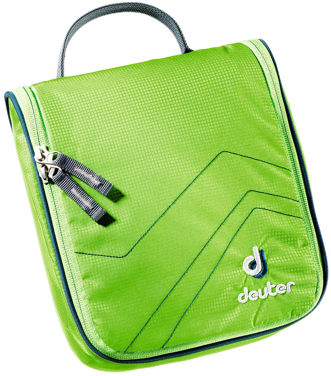 """Косметичка Deuter """"Wash Center I"""", цвет: светло-зеленый, темно-синий, 22 см х 19 см х 8 см"""