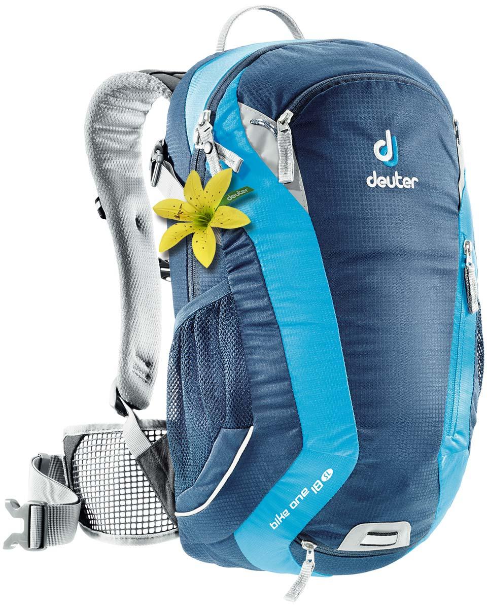 Рюкзак спортивный Deuter Bike One 18 SL, цвет: светло-голубой, бирюзовый, 18 л32052_3306Классический рюкзак идеально подходит для людей, предпочитающих вело-прогулки.Особенности велорюкзака Deuter Bike One 18 SL: съёмный держатель для шлемакомпрессионые ремнинаружние карманыдва внутренних карманабоковые сетчатые карманыкарман для влажной одеждыотражатели 3Mфиксаторы для питьевой системынабедренный пояс с сетчатыми крыльямианатомические плечевые лямкипетля для крепления ночного габаритного фонарика Safety Blink.