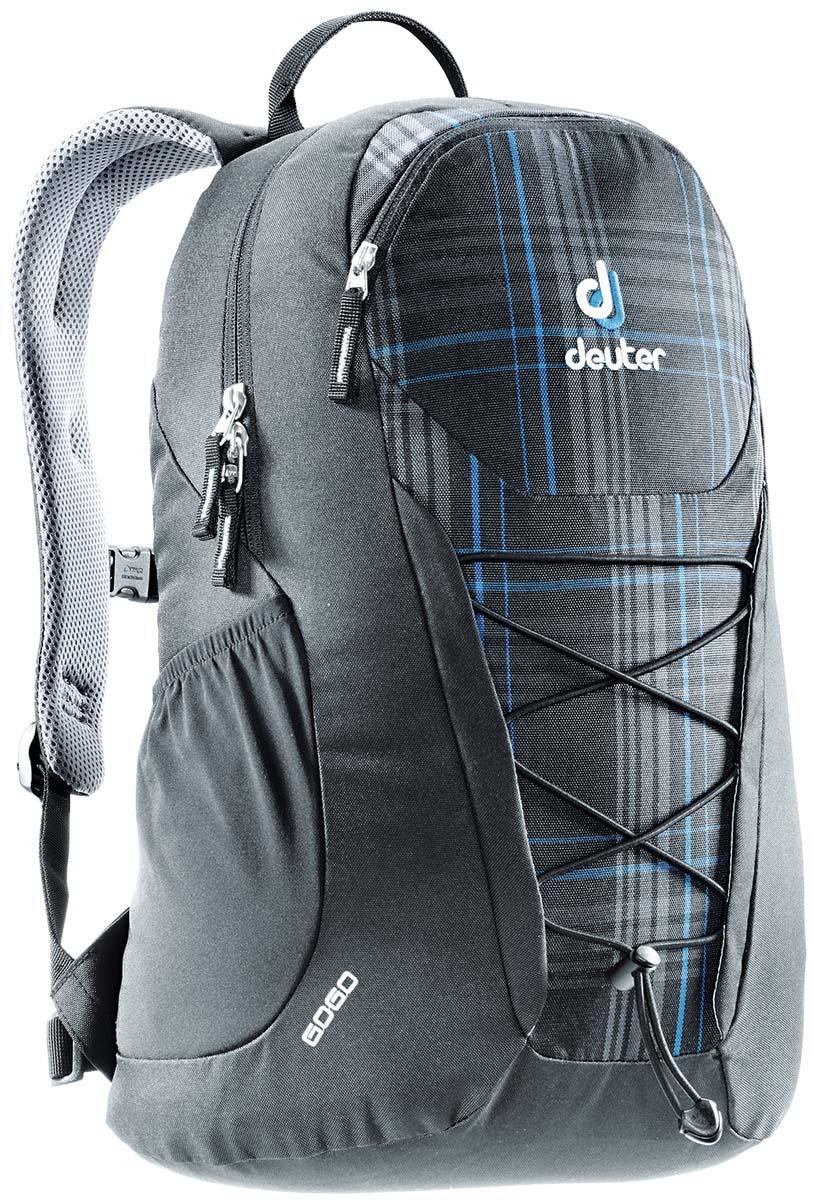 Рюкзак Deuter Gogo, цвет: серый, 25 лZ90 blackПредставляем обновленный, обтекаемый, с техническим дизайном рюкзак Deuter Gogo для школы, офиса и на каждый день. В нем сохранились все практичные опции, и добавилась новая комфортная подвесная система.Особенности: - спинка Airstripes для великолепной вентиляции;- очень комфортные, эргономичные, мягкие плечевые лямки;- легкий доступ в основное отделение через двухходовую U-образную молнию;- передний карман на молнии с карабином для ключей;- эластичные боковые карманы;- нагрудный ремешок с плавной регулировкой;- сменный поясной ремень;- главное отделение размером папки для бумаг;- отделение для документов;- эластичный корд на фронтальной части рюкзака;- внутренний карман для ценных вещей.Вес: 590 г.Объем: 25 л.Размеры: 46 x 30 x 21 см.Материал: Super-Polytex.
