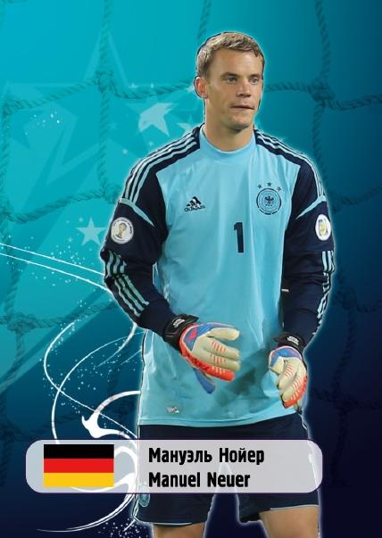 Коллекционная футбольная карточка Мануэль Нойер, Германия58047Коллекционная футбольная карточка Мануэль Нойер, Германия.Спортивная карточка из коллекции Футбольная сборная мира по версии издательства Даринчи. Размер: 60 х 88, с скругленными углами.