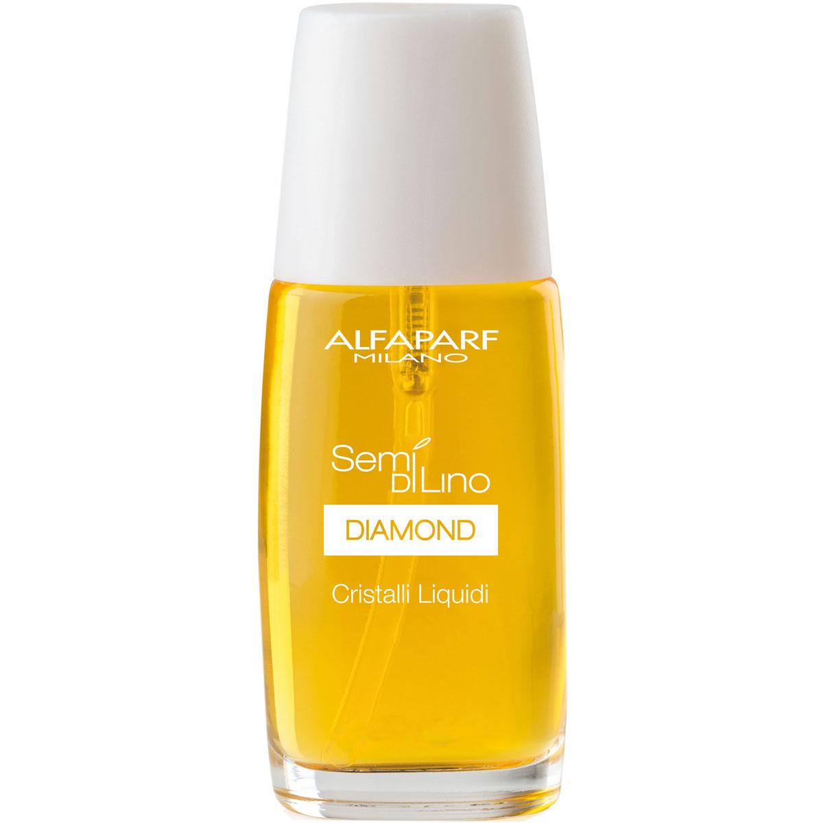 Alfaparf Масло для посеченных кончиков волос, придающее блеск Semi Di Lino Diamond Cristalli Liquidi 16 млCF5512F4Alfaparf Semi DiLino Diamond Cristalli Liquidi Масло для посечённых кончиков волос, придающее блеск разработано для того, чтобы быстро и легко придать волосам великолепный блеск и нормализовать баланс витаминов. Благодаря льняному маслу, которое содержится в средстве для ухода за посечёнными кончиками волос Alfaparf SDL Diamond Cristalli Liquidi нужное количество влаги надолго сохраняется в волосяном стержне, в результате чего волосы выглядят свежими, здоровыми и блестящими. Микрокристаллы алмаза придадут волосам впечатляющий блеск, а витамин Е сделает волосы послушными и мягкими.Масло Альфапарф защищает волосы от таких погодных явлений, как ветер и солнце. Для получения лучшего результата данный продукт рекомендуется использовать совместно с другими средствами для ухода за волосами линии Alfaparf SDL Diamond.