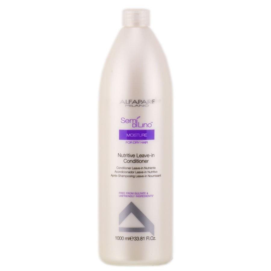 Alfaparf Кондиционер несмываемый для сухих волос Semi Di Lino Moisture Nutritive Leave-In Conditioner 1000 мл725492Alfaparf Semi DiLino Moisture Nutritive Leave - InConditioner Кондиционер несмываемый для сухих волос содержит в составе экстракт мёда и питательные сахариды, способствующие удержанию влаги внутри волосяного стержня, тем самым обеспечивая волосу увлажнение и постоянное питание. В состав средства также входит экстракт семян льна, содержащий жирные кислоты Омега 3 и Омега 6, которые придают волосам красивый и здоровый блеск.Кондиционер Альфапарф SDL Moisture Nutritive Leave-In усиливает насыщенность цвета волос, обладает устойчивым эффектом и не содержит парафинов, парабенов, минеральных масел и красителей. Несмываемый кондиционер Alfaparf Nutritive делает волосы послушными и способствует гораздо более комфортной укладке волос.