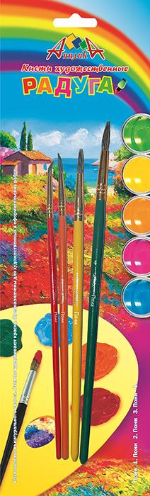 Апплика Набор кистей из волоса пони Радуга №1, 2, 3, 4 (4 шт)8644106Кисти из набора Апплика идеально подойдут для детского творчества, художественных и декоративно-оформительских работ. Кисти из натурального ворса пони разных размеров предназначены для работы с акварелью, гуашью, тушью. Конусообразная форма пучка позволяет прорисовывать мелкие детали и выполнять заливку фона. В набор входят кисти №1, 2, 3 и 4