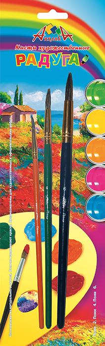Апплика Набор кистей из волоса пони №2, 4, 6 (3 шт) С1103-01C13S041944Кисти из набора Апплика идеально подойдут для детского творчества, художественных и декоративно-оформительских работ. Кисти из натурального ворса пони разных размеров предназначены для работы с акварелью, гуашью, тушью. Конусообразная форма пучка позволяет прорисовывать мелкие детали и выполнять заливку фона. В набор входят кисти №2, 4 и 6