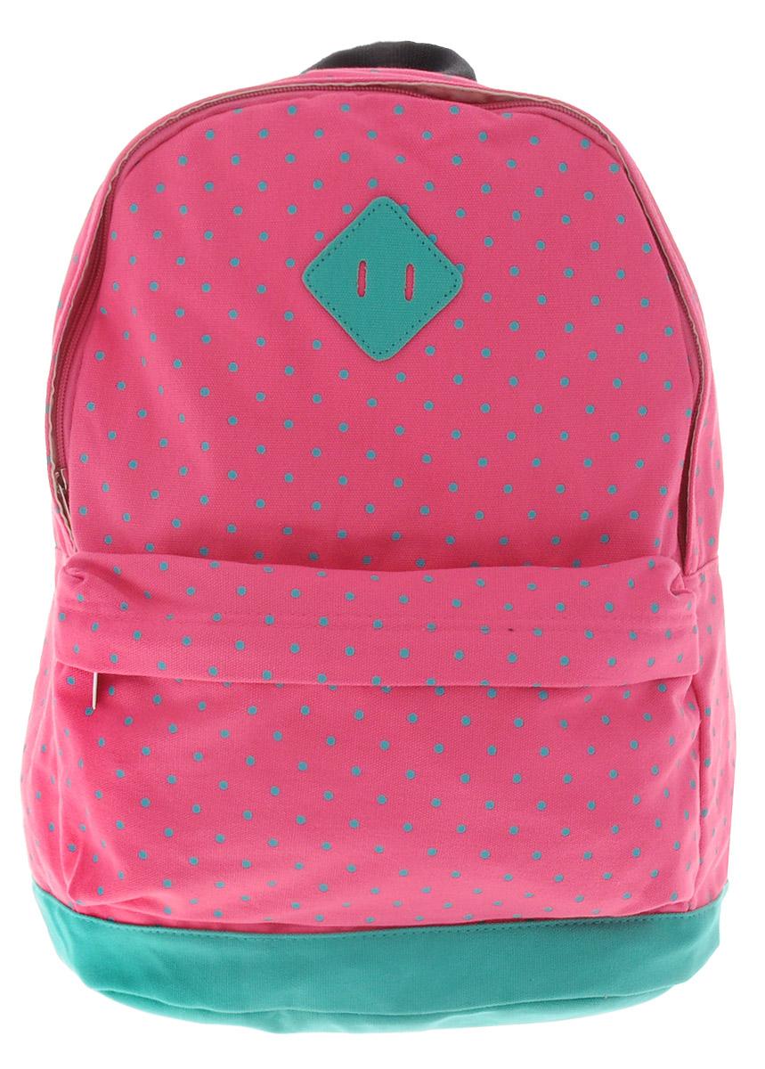 Centrum Рюкзак детский цвет розовый бирюзовый42264/121Стильный рюкзак Centrum предназначен специально для подростков. Рюкзак содержит одно вместительное отделение, закрывающееся на застежку-молнию. Внутри отделения имеется дополнительный прорезной карман на застежке-молнии. На лицевой стороне расположен накладной карман на застежке-молнии. Рюкзак оснащен широкими мягкими лямками, регулирующимися по длине, и петлей для подвешивания на вешалке.Рюкзак будет отличным помощником для вашего ребенка в его походах за знаниями.