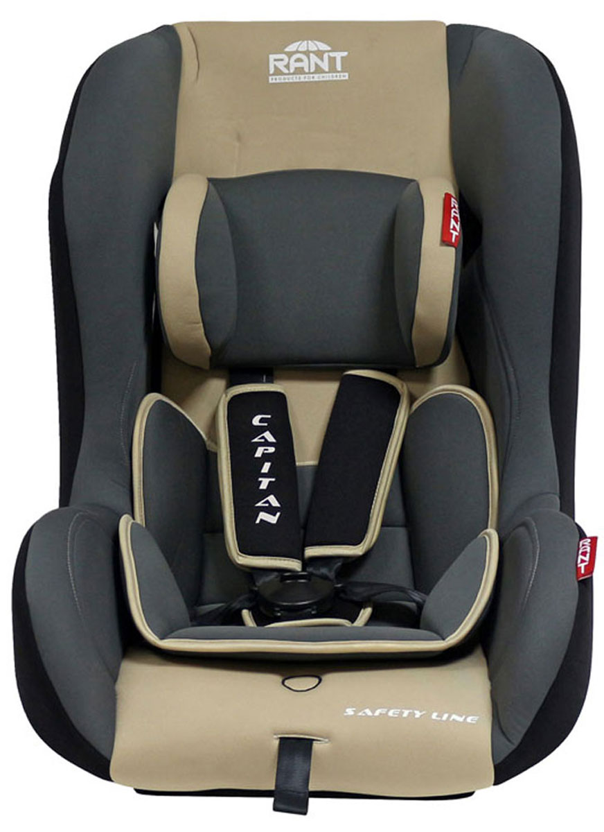 Rant Автокресло Capitan цвет бежевый до 25 кгVCA-00Детское автокресло Rant Capitan разработано для детей весом до 25 кг (приблизительно от рождения до 6-7 лет). Автокресло может устанавливаться как по ходу движения, так и против хода движения. Для новорожденного малыша автокресло фиксируется в автомобиле против хода движения (малыш лицом назад), пока малыш научится хорошо сидеть. С 7-8 месяцев автокресло устанавливается лицом вперед и эксплуатируется приблизительно до 5-6 лет (9-25 кг).Особенности: Удобное сиденье с мягким вкладышем делает кресло комфортным и безопасным для малышей. Усиленная боковая защита обеспечит безопасность ребенка от ударов при боковых столкновениях. Автокресло оснащено пятиточечными ремнями безопасности с мягкими плечевыми накладками (уменьшают нагрузку на плечи малыша). Накладки обеспечивают плотное прилегание и надежно удержат малыша в кресле в случае ударов. Ремни удобно регулировать под рост и комплекцию ребенка без особых усилий. Съемный чехол автокресла Capitan изготовлен из огнестойкой, гипоаллергенной эластичной ткани, легко чистится и стирается вручную или в деликатном режиме в стиральной машине при температуре 30°.Крепление и установка: Установка автокресла возможна в двух положениях: против хода движения (если малышу от 0 до 7-8 месяцев), ребенок фиксируется внутренними ремнями безопасности. По ходу движения (если малышу от 7-8 месяцев и до 5-6 лет), ребенок фиксируется автомобильными ремнями безопасности. Правильность прохождения автомобильных ремней безопасности обеспечивается специальными фиксаторами, предусмотренными по бокам автокресла.Безопасность: Корпус из ударопрочного пластика гарантируют защиту при боковых и фронтальных столкновениях. Пятиточечные ремни безопасности с мягкими плечевыми накладками надежно зафиксируют малыша в автокресле. Прочный и практичный замок фиксации ремней безопасности надежно удержит малыша при резких торможениях и толчках. Автокресло Capitan сертифицировано и соответствует требованиям Европейско