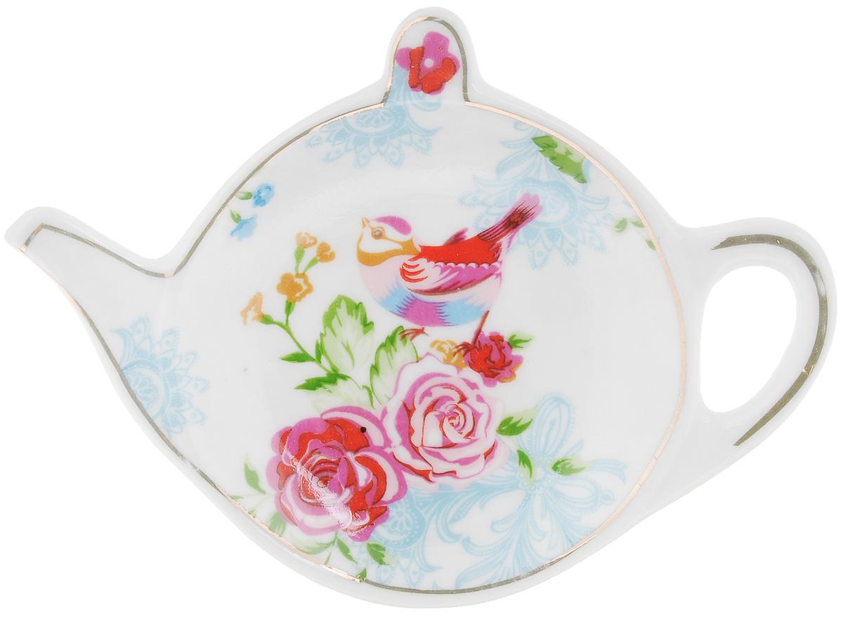 Подставка для чайных пакетиков Patricia Райская птичка115510Подставка Patricia Райская птичка, изготовленная из высококачественного фарфора, порадует вас оригинальностью и дизайном. Подставка выполнена в форме чайничка и оформлена ярким рисунком. С помощью такой подставки ваша столешница останется чистой.Можно мыть в посудомоечной машине и использовать в микроволновой печи.
