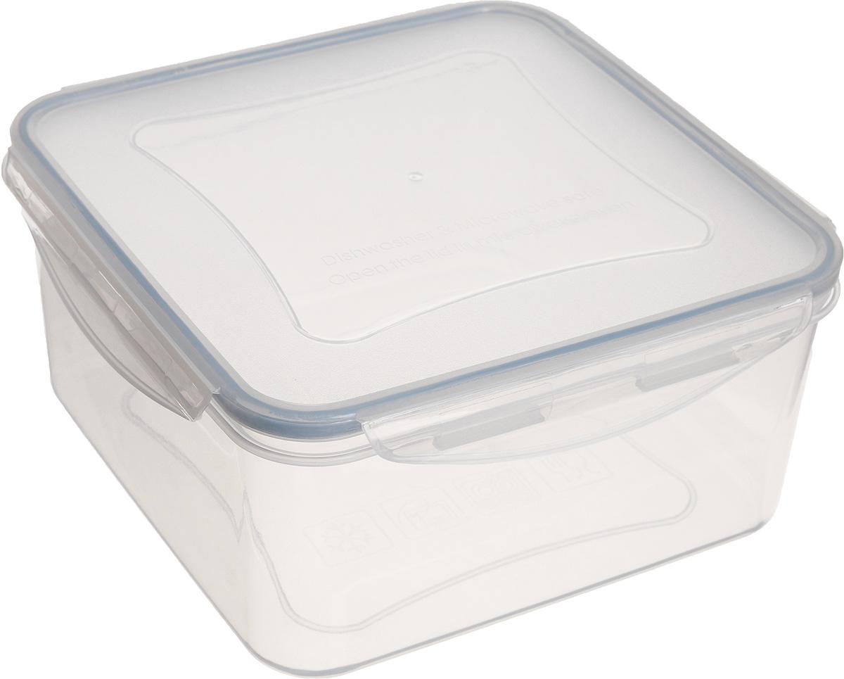 Контейнер Tescoma Freshbox, квадратный, 3 лTK 0177Квадратный контейнер Tescoma Freshbox замечателен для хранения и переноски продуктов. Выполнен из высокопрочной жаростойкой пластмассы, которая выдерживает температуру от -18°С до +110°С. Контейнера снабжен воздухонепроницаемой и водонепроницаемой крышкой с силиконовой прокладкой, которая гарантирует герметичность. Продукты дольше сохраняют свежесть и аромат, а жидкие блюда не вытекают. Контейнер очень вместителен, он отлично подойдет для хранения пищи дома, а также для пикников и выездов на природу. Контейнер пригоден для использования в холодильнике, морозильной камере и микроволновой печи. Допускается мытье в посудомоечной машине.