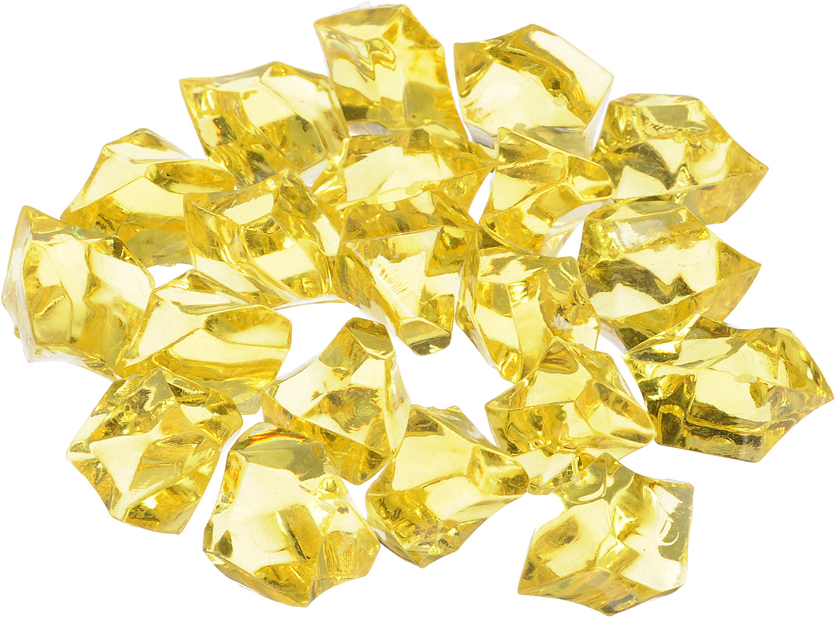 Набор декоративных кристаллов Большие камни, цвет: желтый, 70 г. 824-012AM571008Набор декоративных кристаллов Большие камни, выполненный из пластика, замечательно подойдет для украшения вашего дома. Его можно использовать для декора интерьера, а также как наполнитель для декоративных ваз. Декоративные кристаллы создают чувство уюта и улучшают настроение.Размер кристалла: 3 х 2 х 2 см.