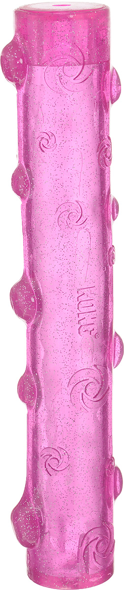 Игрушка для собак Kong Squeezz Crackle, хрустящая палочка, цвет: розовый, длина 28 см0120710Игрушка для собак Kong Squeezz Crackle, изготовленная из безопасного эластичного материала, станет любимой игрушкой вашей собаки. При скручивании или сгибании эта игрушка издает особый трескучий звук, который привлекает собак. Изделие имеет яркий цвет и отличается привлекательным блеском. Подходит для подвижных игр дома и на улице и доставит огромную радость собакам и их заботливым владельцам.
