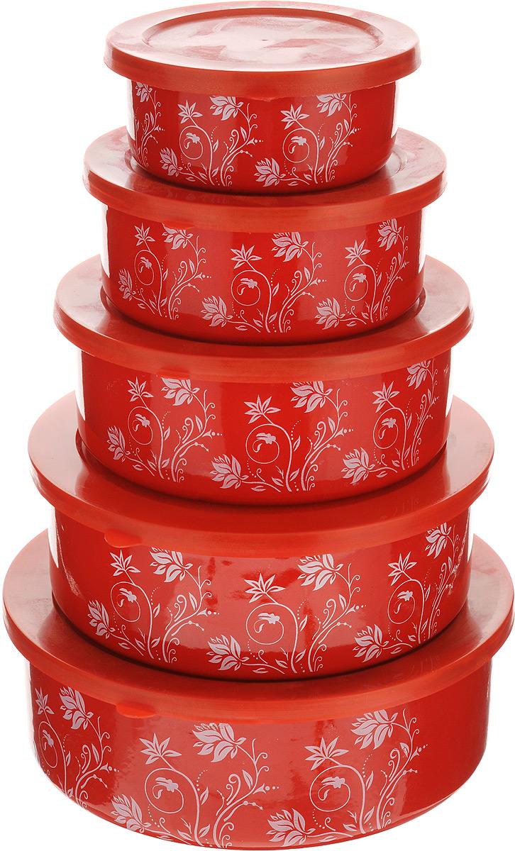 Набор мисок Mayer & Boch, с крышками, 5 шт391602Набор Mayer & Boch состоит из пяти мисок разногоразмера, выполненных из металла с эмалированнымпокрытием. Миски снабжены пластиковыми плотноприлегающими крышками. Они являются универсальнымприобретением для любой кухни. С их помощью можноготовить блюда, хранить продукты и даже сервировать стол.Оригинальный дизайн, высокое качество и функциональностьнабора Mayer & Boch позволят ему стать достойнымдополнением к вашему кухонному инвентарю. Можно мыть в посудомоечной машине.Диаметр мисок (по верхнему краю): 10 см, 12 см, 14 см, 16 см, 18 см.Высота стенок мисок (без учета крышек): 4 см, 4,5 см, 5 см, 5,5 см, 6 см.Объем мисок: 180 мл, 330 мл, 510 мл, 740 мл, 1 л.