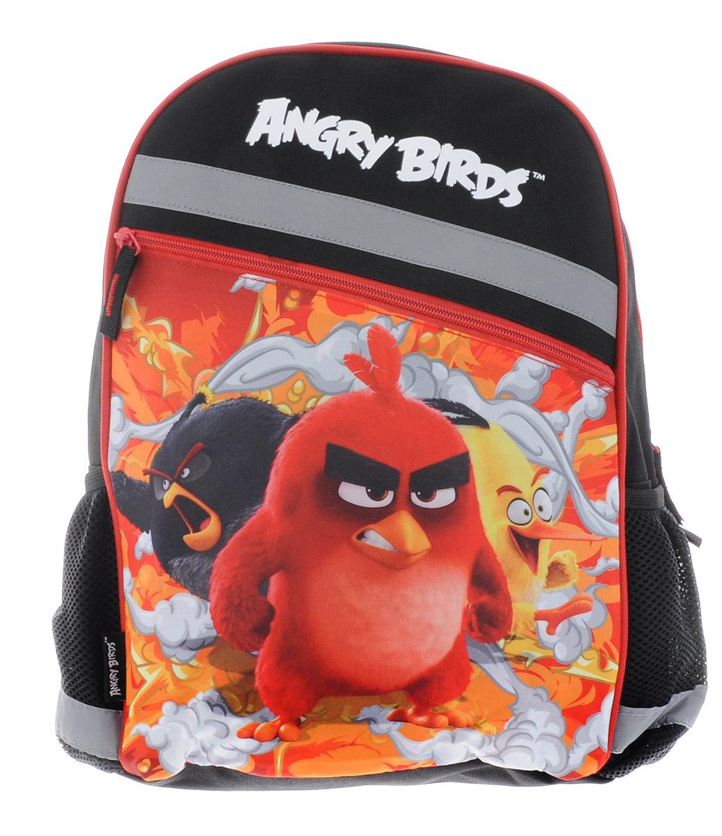 Angry Birds Рюкзак детский цвет горький шоколадABDB-MT1-733Рюкзак Angry Birds станет надежным спутником в получении знаний. Он выполнен из прочного полиэстера, с ярким рисунком злых птичек. Рюкзак имеет одно основное отделение и большой врезной карман снаружи. Основное отделение и карман застегиваются на молнию. Внутри рюкзака имеется разделитель, большой открытый карман для тетрадей или гаджетов и широкая резинка. По бокам рюкзака расположены карманы с сетчатыми вставками на резинке. Благодаря мягкой спинке и широким плечевым ремням, регулирующимся по длине, у ребенка не возникнет проблем с позвоночником. Мягкая спинка выполнена из поролона обтянутого воздухообменной сеткой. Также рюкзак оснащен текстильной ручкой для удобной переноски.Светоотражающие вставки не оставят владельца рюкзака незамеченным в темное время суток.