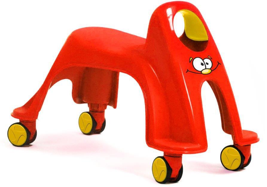 """Маленькие гонщики в возрасте от 1 до 3 лет будут в восторге от маневренной машинки """"Вихрь"""". Легкая и невероятно простая в управлении, она не только надолго займет ребенка, но и поможет улучшить моторику и поспособствует правильному развитию легких и сердечно-сосудистой системы малыша. Колеса вращаются на 360 градусов и позволяют детям мчаться как вихрь в любом направлении."""