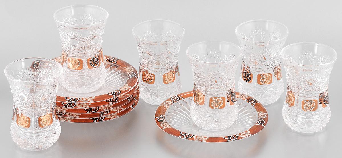 Набор стаканов Loraine, с блюдцами, 12 предметов990/20210/0/00000/280-609Набор Loraine состоит из 6 стаканов с блюдцами, выполненных из высококачественного стекла. Изделия декорированы рельефной поверхностью. Благодаря такому набору пить напитки будет еще вкуснее. Набор Loraine станет также отличным подарком на любой праздник. Подходит для горячих и холодных напитков. Не рекомендуется мыть в посудомоечной машине. Объем стакана: 190 мл. Диаметр стакана по верхнему краю: 6 см. Высота стакана: 9,3 см. Диаметр блюдца: 13,5 см. Высота блюдца: 1,8 см.