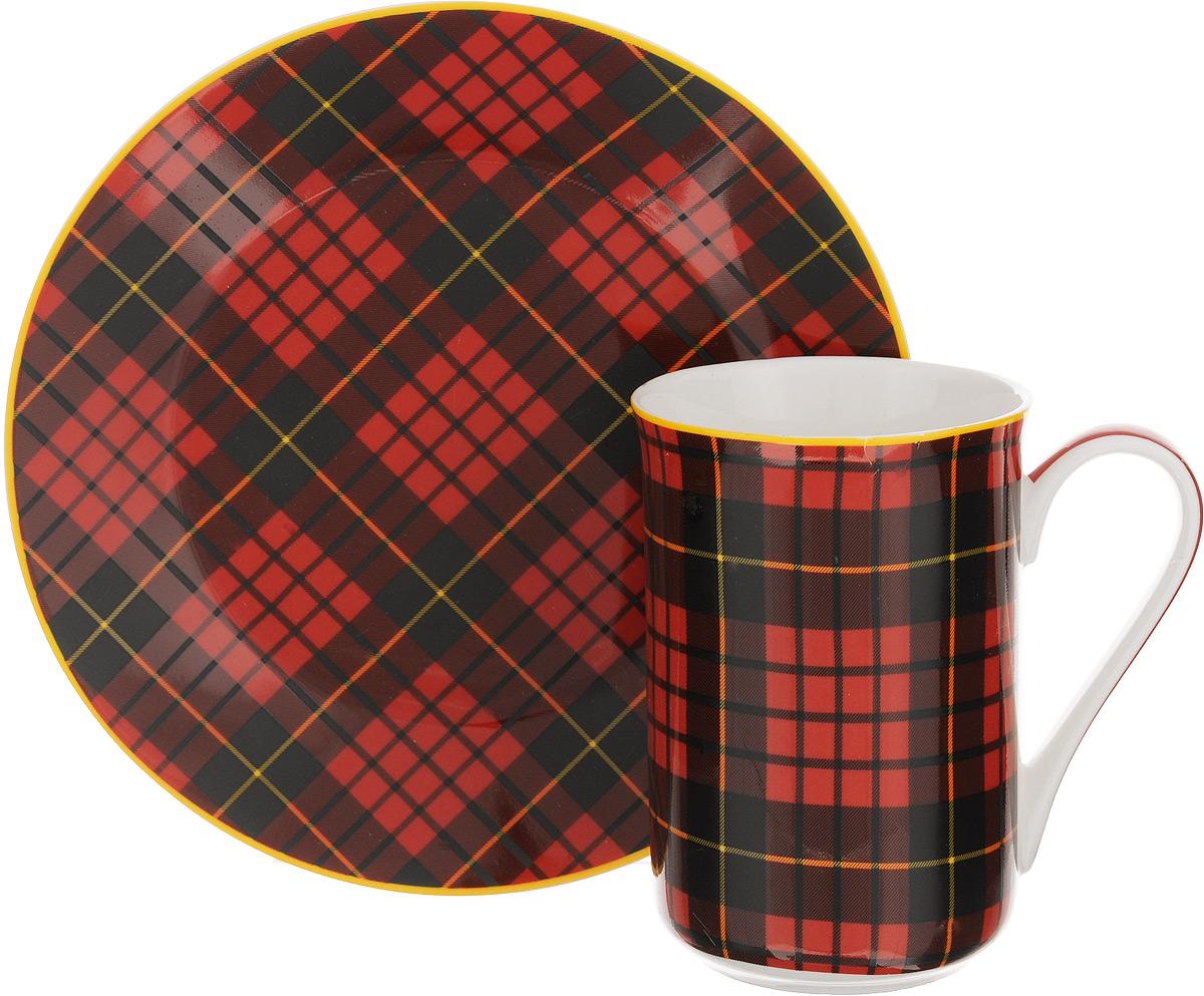 Набор для завтрака Patricia Стиль, 2 предмета. IM52-100054 009312Набор для завтрака Patricia Стиль включает кружку и тарелку. Изделия выполнены из фарфора высокого качества и украшены декором в виде традиционной шотландской клетки. Набор идеально подойдет для сервировки завтрака для одной персоны. Такой набор не только порадует своей практичностью, но и станет приятным сувениром для ваших близких. А оригинальное оформление посуды добавит ярких эмоций.Набор упакован в подарочную коробку, задрапированную белой атласной тканью. Не рекомендуется мыть в посудомоечной машине и использовать в микроволновой печи. Объем кружки: 370 мл. Диаметр кружки (по верхнему краю): 7,5 см. Высота кружки: 11 см. Диаметр тарелки: 19 см.