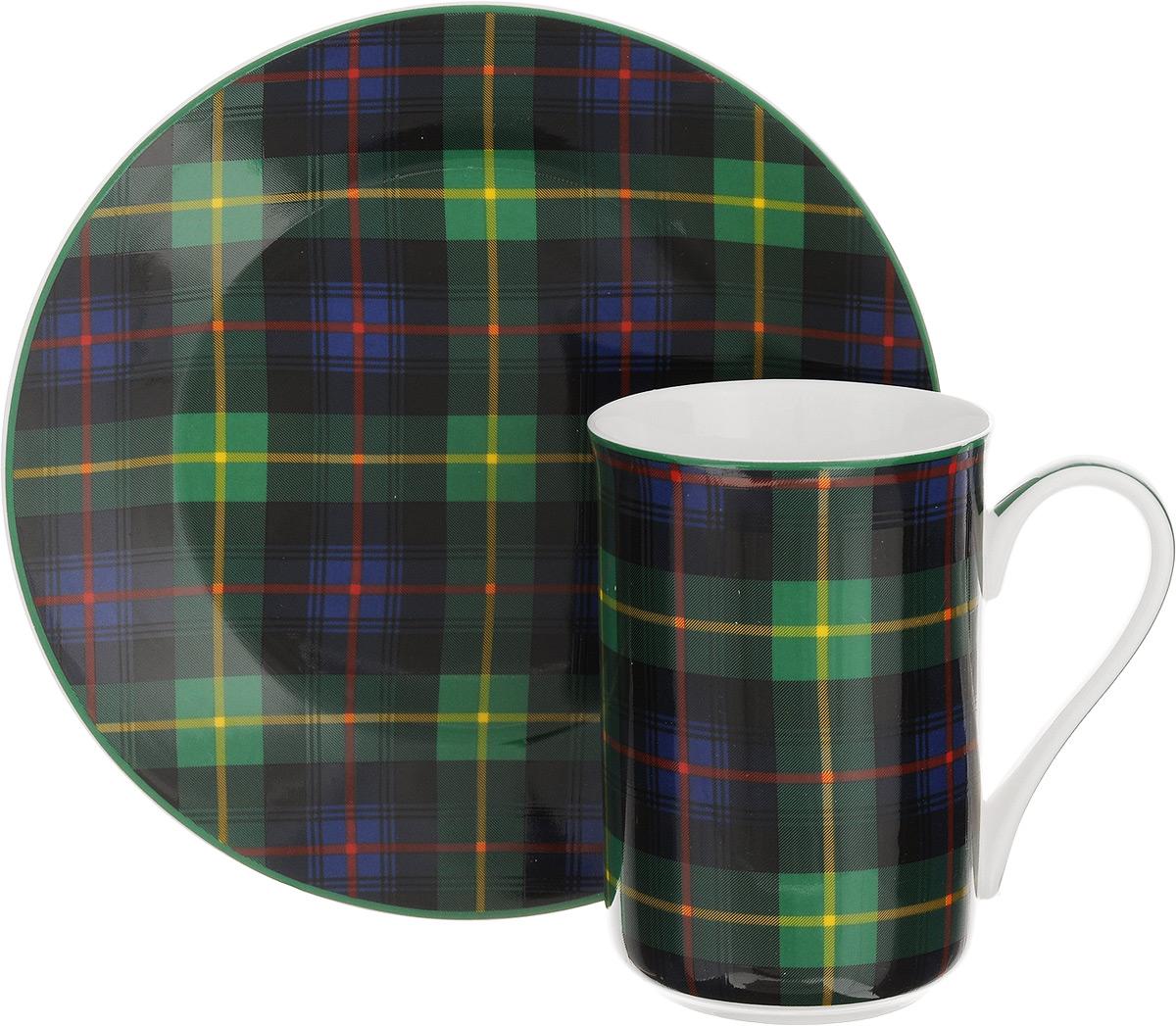 Набор для завтрака Patricia Стиль, 2 предмета. IM52-110054 009312Набор для завтрака Patricia Стиль включает кружку и тарелку. Изделия выполнены из фарфора высокого качества и украшены декором в виде традиционной шотландской клетки. Набор идеально подойдет для сервировки завтрака для одной персоны. Такой набор не только порадует своей практичностью, но и станет приятным сувениром для ваших близких. А оригинальное оформление посуды добавит ярких эмоций.Набор упакован в подарочную коробку, задрапированную белой атласной тканью. Не рекомендуется мыть в посудомоечной машине и использовать в микроволновой печи. Объем кружки: 370 мл. Диаметр кружки (по верхнему краю): 7,5 см. Высота кружки: 11 см. Диаметр тарелки: 19 см.