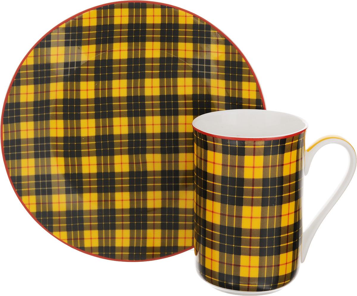 Набор для завтрака Patricia Стиль, 2 предметаFS-91909Набор для завтрака Patricia Стиль включает кружку и тарелку. Изделия выполнены из фарфора высокого качества и украшены декором в виде традиционной шотландской клетки. Набор идеально подойдет для сервировки завтрака для одной персоны. Такой набор не только порадует своей практичностью, но и станет приятным сувениром для ваших близких. А оригинальное оформление посуды добавит ярких эмоций.Изделия упакованы в подарочную коробку, задрапированную белой атласной тканью. Не рекомендуется мыть в посудомоечной машине и использовать в микроволновой печи. Объем кружки: 370 мл. Диаметр кружки (по верхнему краю): 7,5 см. Высота кружки: 11 см. Диаметр тарелки: 19 см.
