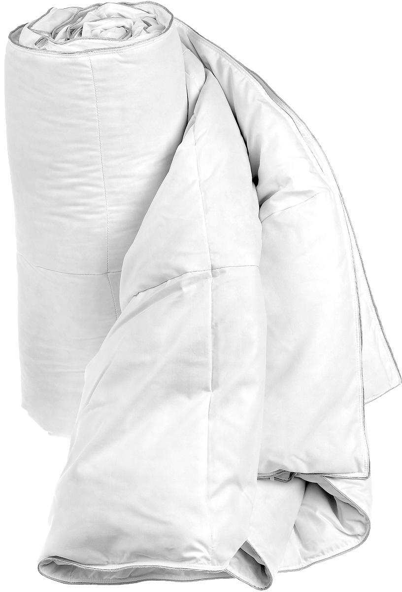 Одеяло Dargez Женева, наполнитель: гусиный пух, 200 х 220 см531-105Одеяло Dargez Женева окутает вас теплом, подарит здоровый сон и необычайный комфорт. Чехол одеяла изготовлен из тенселя и полиэстера, края отделаны серебристым кантом. Одеяло изготовлено по технологии камерстеп, то есть состоит из независимых камер. Внутри - наполнитель из натурального гусиного пуха категории Экстра. Во все времена гусиный пух считался одним из самых ценных наполнителей для постельных принадлежностей, который обладает особой мягкостью, упругостью и высокой теплоизоляцией. Высококачественный пух Dargez собирается с породистой птицы, выращиваемой в суровых климатических условиях экологически чистых областей сибирского региона. Это обеспечивает превосходное качество пуха. Одеяло имеет необычайно гладкую поверхность ткани, отличается высокой воздухонепроницаемостью, хорошей терморегуляцией и поддерживает оптимальный уровень влажности. Обладает средней степенью теплоты: под ним прохладно летом и тепло зимой. Одеяло также прошло обработку по технологии Bioneem. Это концентрированная формула активных элементов, основанных на компонентах масла семени индийского дерева neem. Данная технология препятствует возникновению и размножению пылевого клеща, обеспечивая долгосрочную антиаллергенную защиту. Одеяло оказывает положительное влияние на человека - способствует спокойному и, что немаловажно, здоровому сну. Изделия коллекции способны стать прекрасным подарком для людей, ценящих красоту и комфорт. Масса наполнителя: 700 г.