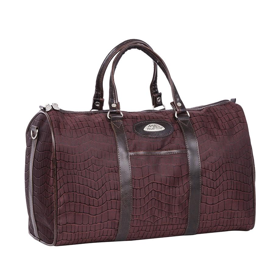 Сумка дорожная Polar, 18,5 л, цвет: коричневый. 6096.2ГризлиНебольшая вместительная дорожная сумка из полиэстера с водоотталкивающей пропиткой. Внутри дополнительный карман для документов. В комплект входит съемный плечевой ремень.