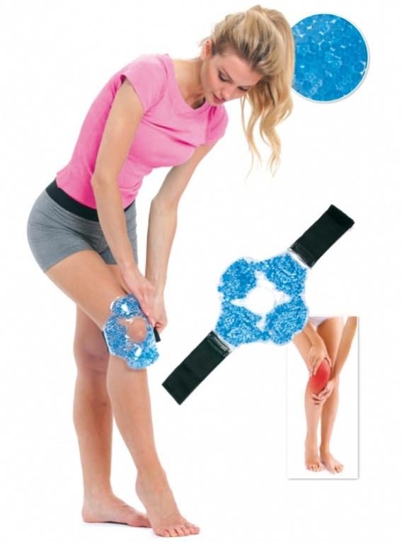 BRADEX Компресс для колена гелевыйKZ 0251Усталость, отечность коленных суставов и дискомфорт после тренировок, длительной ходьбы или других физических нагрузок можно снять при помощи разогревающего или, наоборот, охлаждающего компресса.Компресс для колена гелевый – это простой, надежный и не стесняющий движений способ охлаждения или прогревания колена.
