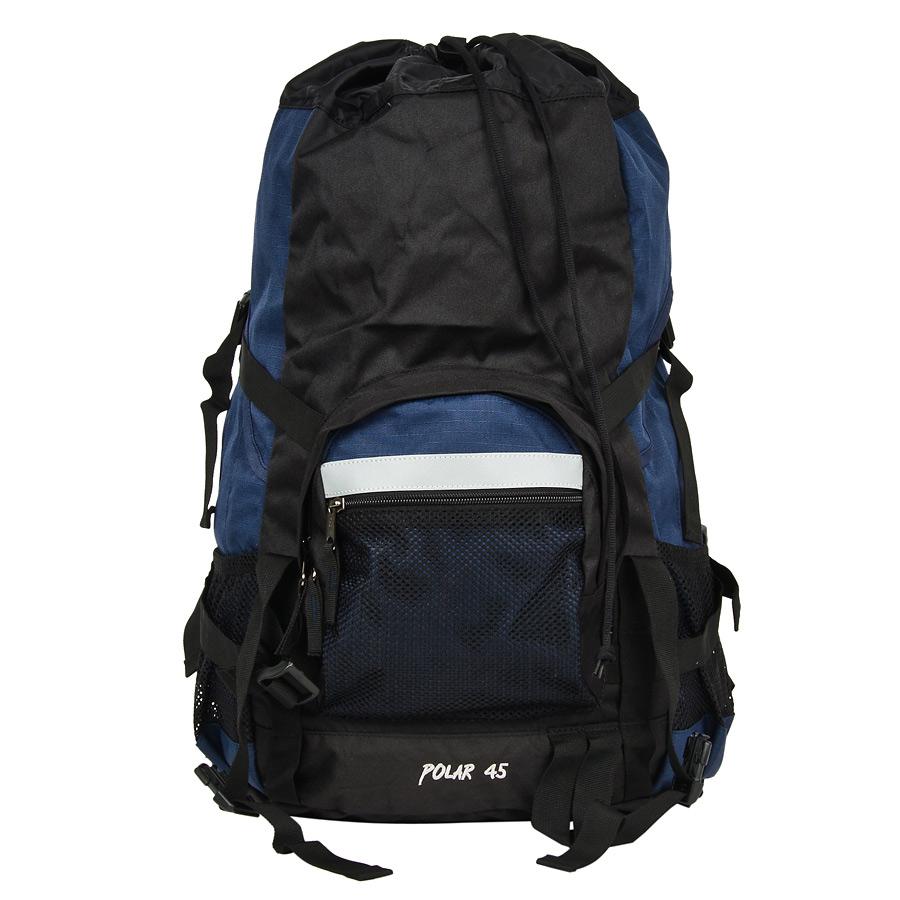 Рюкзак экспедиционный Polar, цвет: синий, 45 л. П301-041120_0900Фирменный туристический рюкзак Polar выполнен из полиэстера с водоотталкивающей пропиткой. Жесткая спинка с металлическим каркасом. Удобный лямки повторяющие форму плеча уменьшают нагрузку на спину и делают этот рюкзак очень удобным при эксплуатации. Так же предусмотрены грудная и поясничная стяжки лямок. На поясничной стяжке с левой стороны небольшой карман на молнии для мелких предметов. Одно отделение. Карман с органайзером и карманом из трикотажной сетки на молнии внутри. Карман из трикотажной сетки на молнии для мелких предметов. Два боковых кармана из основной ткани. Клапан с двумя карманами на молнии. Стяжки для регулирования объема.Этот рюкзак идеально подойдет для недолговременных походов и позволит вам взять с собой все необходимое.