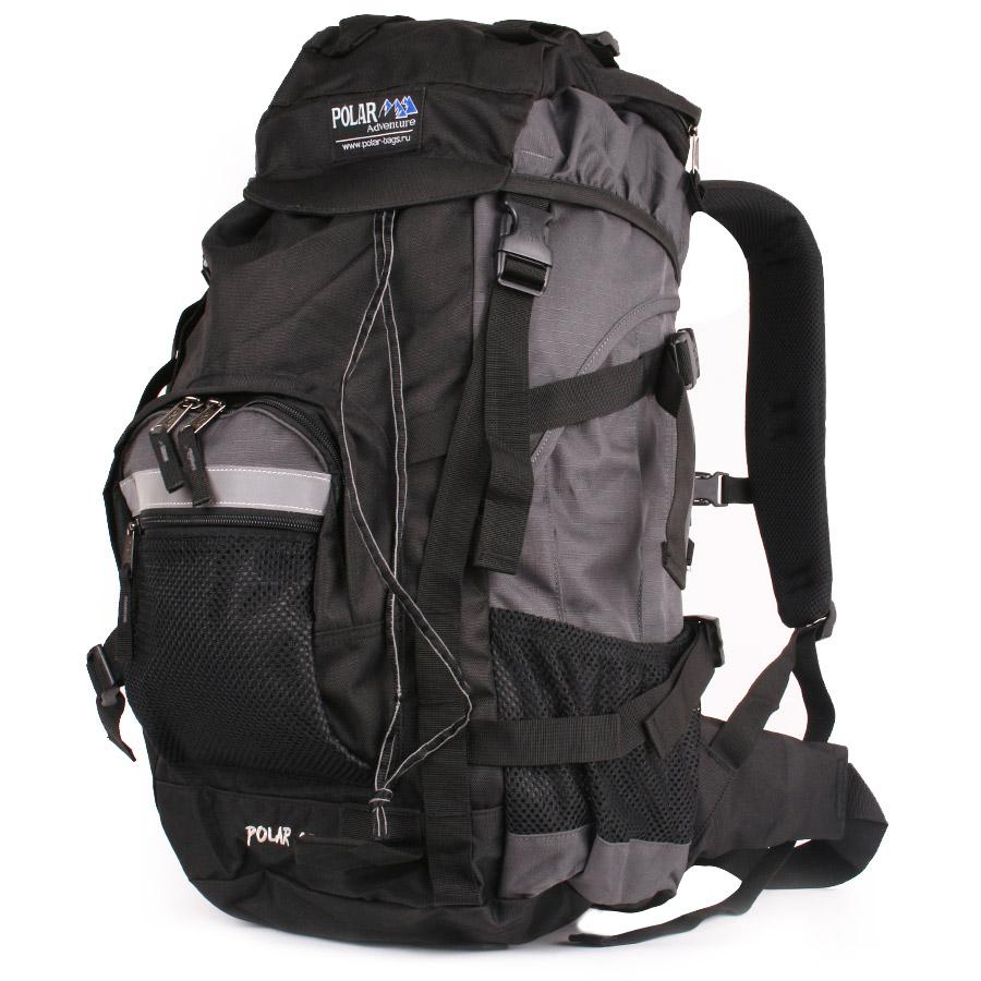 Рюкзак экспедиционный Polar, цвет: серый, 45 л. П301-063320416_3353Фирменный туристический рюкзак Polar выполнен из полиэстера с водоотталкивающей пропиткой. Жесткая спинка с металлическим каркасом. Удобный лямки повторяющие форму плеча уменьшают нагрузку на спину и делают этот рюкзак очень удобным при эксплуатации. Так же предусмотрены грудная и поясничная стяжки лямок. На поясничной стяжке с левой стороны небольшой карман на молнии для мелких предметов. Одно отделение. Карман с органайзером и карманом из трикотажной сетки на молнии внутри. Карман из трикотажной сетки на молнии для мелких предметов. Два боковых кармана из основной ткани. Клапан с двумя карманами на молнии. Стяжки для регулирования объема.Этот рюкзак идеально подойдет для недолговременных походов и позволит Вам взять с собой все необходимое.