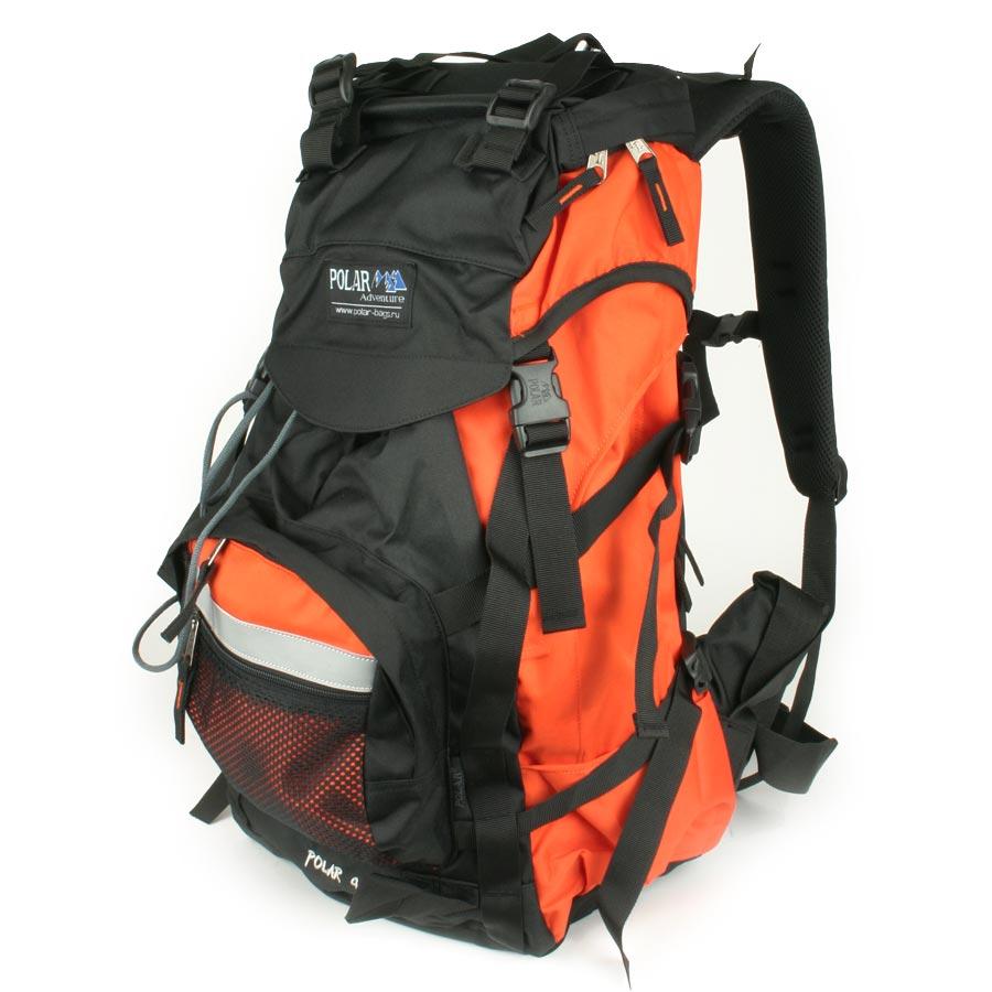 Рюкзак экспедиционный  Polar , цвет: оранжевый, 45 л. П301-02 - Туристические рюкзаки