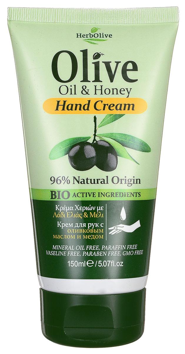 HerbOlive Крем для рук с натуральным медом 150 мл086-03-33595Крем для рук с натуральным медом питает кожу энергией и биологически активными веществами, усиливает кровообращение, на основе органического масла оливы идеально подходит для ежедневного использования. Легко впитывается увлажняет и смягчает кожу рук, защищает от сухости, раздражений, трещин и ежедневного воздействия внешней агрессивной среды. Увлажняет руки, делая их мягкими и гладкими.Косметика произведена в Греции на основе органического сырья, НЕ СОДЕРЖИТ минеральные масла, вазелин, пропиленгликоль, парабены, генетически модифицированные продукты (ГМО)