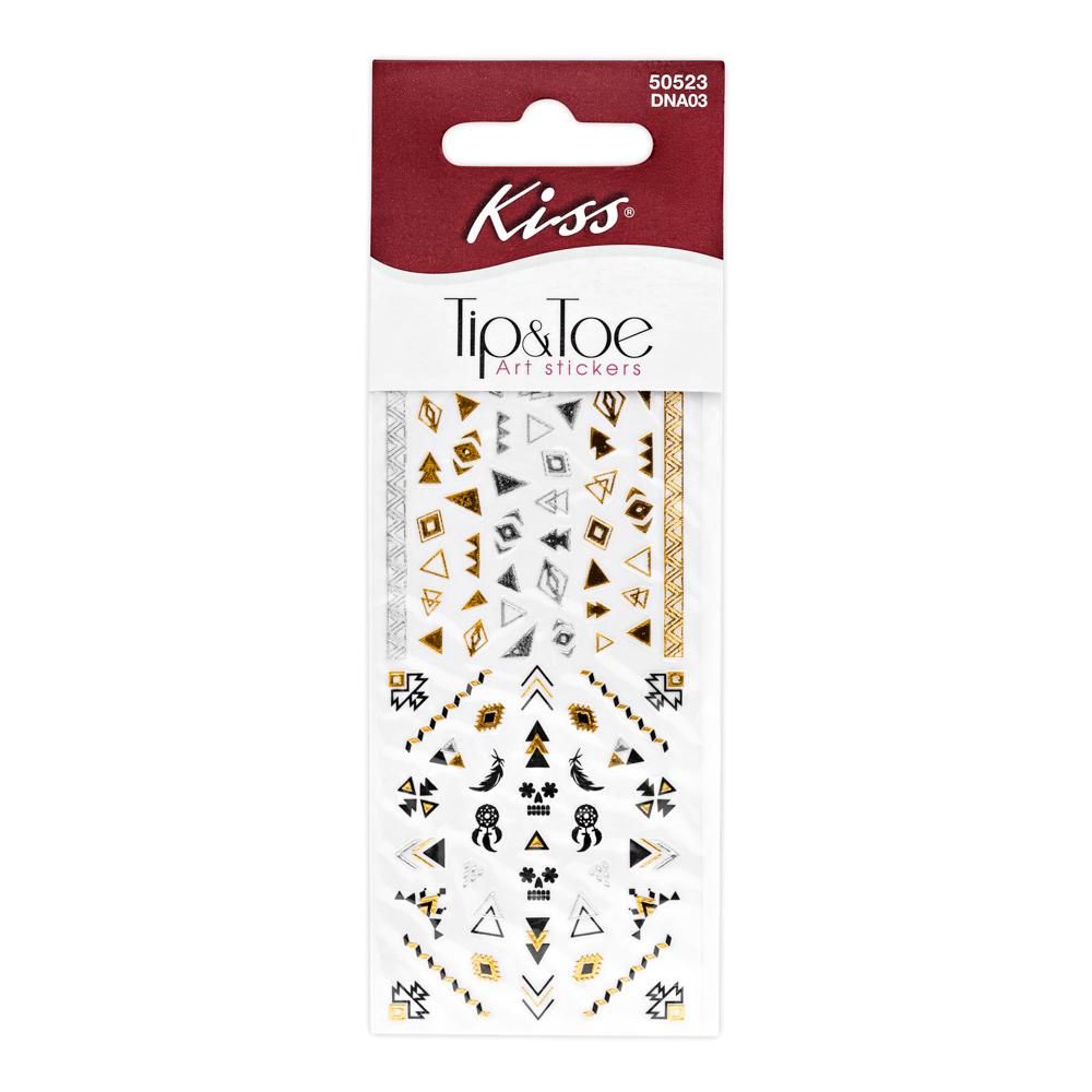 Kiss Набор стикеров для ногтей Nail Art Stickers Pink DNA035010777139655Стикеры для дизайна ногтей Kiss геометрические узоры помогут создать модный маникюр в этническом стиле. Создайте свой оригинальный дизайн, используя стикеры золотого, серебряного и черного цвета. Отличное дополнение к флеш-тату на руке.