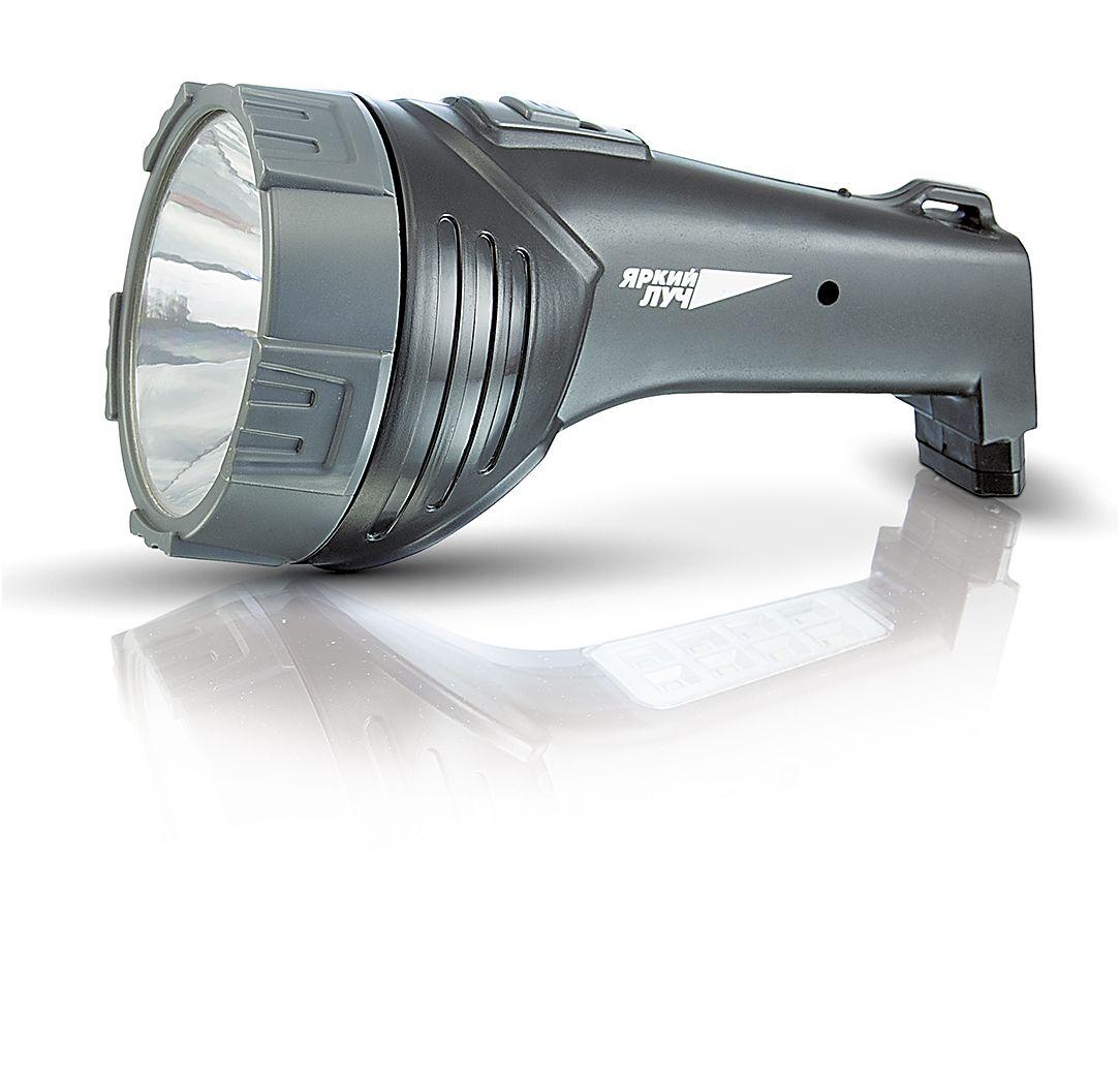 Фонарь ручной Яркий Луч LA-1084606400204275Аккумуляторный многофункциональный светодиодный фонарь Яркий Луч LA-108: - Мощный светодиод 1 Вт - обеспечивает направленный свет дальностью до 30 метров - 8 ярких светодиодов на ручке фонаря - для местного освещения - Кислотно-свинцовый аккумулятор 4 В, 900 мАч - Встроенная вилка для заряда аккумулятора от сети 220 В- Индикатор сети, расположенный на ручке фонаря. - Время зарядки составляет от 4 до 6 часов.Два режима работы: - Прожектор: 1 Вт светодиод обеспечит направленным светом дальнего действия.- Кемпинг: 8 светодиодов – рассеянный свет для местного освещения.