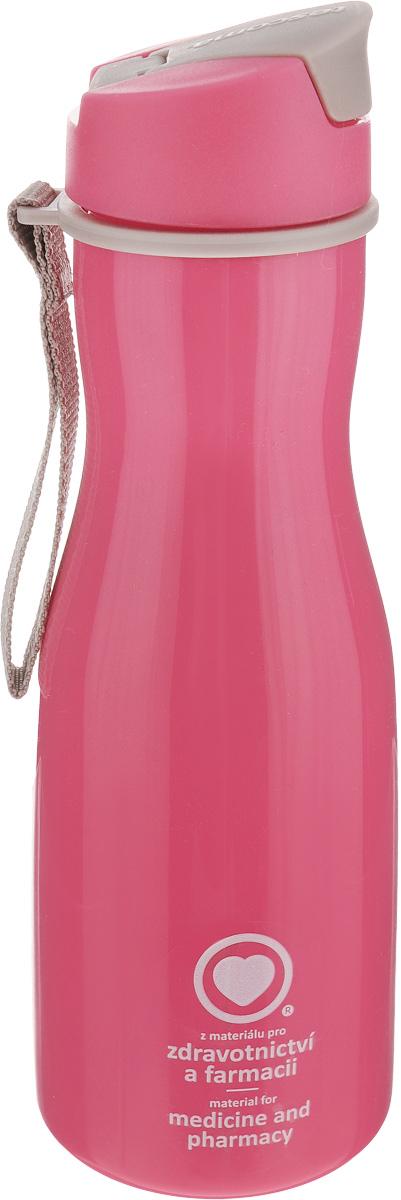 Бутылка для воды Tescoma Purity, цвет: розовый, бежево-серый, 700 мл891982Стильная бутылка для воды Tescoma Purity, изготовленная из высококачественного пластика, оснащена съемным текстильным ремешком и крышкой с силиконовым уплотнителем, которая плотно и герметично закрывается, сохраняя свежесть и изначальную температуру напитка. Изделие прекрасно подойдет для использования в жаркую погоду: вода долго сохраняет первоначальные свойства и вкусовые качества. При необходимости в бутылку можно наливать витаминизированные напитки, фруктовые соки, чай или протеиновые коктейли.Такую бутылку можно без опаски положить в рюкзак, закрепить на поясе или велосипедной раме. Она пригодится как на тренировках, так и в походах или просто на прогулке.Бутылку разрешено кипятить и мыть в посудомоечной машине.Изделие можно использовать в холодильнике и микроволновой печи. Ремешок и крышку не рекомендуется мыть в посудомоечной машине.Диаметр горлышка бутылки: 5 см.Диаметр основания: 8 см.Высота бутылки (без учета крышки): 23 см.Длина ремешка: 11 см.