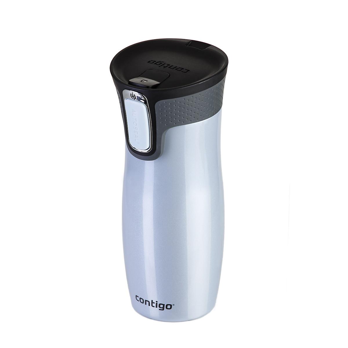 Термокружка Contigo West Loop, цвет: светло-серый, черный, 470 млcontigo0260Термокружка Contigo West Loop, изготовленная из высококачественной окрашенной нержавеющей стали и пищевого пластика, подходит как для холодных, так и для горячих напитков. Жидкость сохраняется горячей до 5 часов, холодной - до 12 часов. Изделие оснащено крышкой с открывающимся клапаном, что очень удобно для питья. Клапан открывается нажатием кнопки Autoseal сбоку кружки. Функция блокировки предназначена для предотвращения нежелательного нажатия данной кнопки во время перемещения кружки, наполненной жидкостью. С такой термокружкой вы где угодно сможете насладиться вашими любимыми напитками: в поездке, на прогулке, на работе или учебе. Изделие удобно брать с собой. Крышка подходит для мытья в посудомоечной машине. Корпус рекомендуется мыть вручную. Диаметр горлышка: 6,5 см. Размер (по верхнему краю): 8 х 9 см. Высота кружки (с учетом крышки): 20 см.