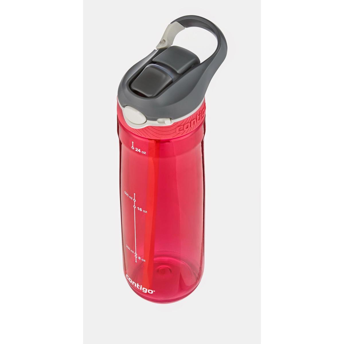 Бутылка для воды Contigo Ashland, цвет: красный, 720 млVT-1520(SR)Бутылка для напитков Contigo Ashland является отличным решением для тех, кто делает осознанный выбор в пользу практичности и комфорта. Благодаря тщательно продуманной форме вы с легкостью сможете положить ее в рюкзак либо сумку. Кроме этого бутылка для воды Contigo Ashland отлично поместится в подстаканник в автомобиле.Горлышко бутылки оснащенное системой Autospout закрывается надежно и герметично. Благодаря этому вы получите полную уверенность в том, что даже при перекидывании бутылки ее содержимое не прольется. Объем 720 мл.