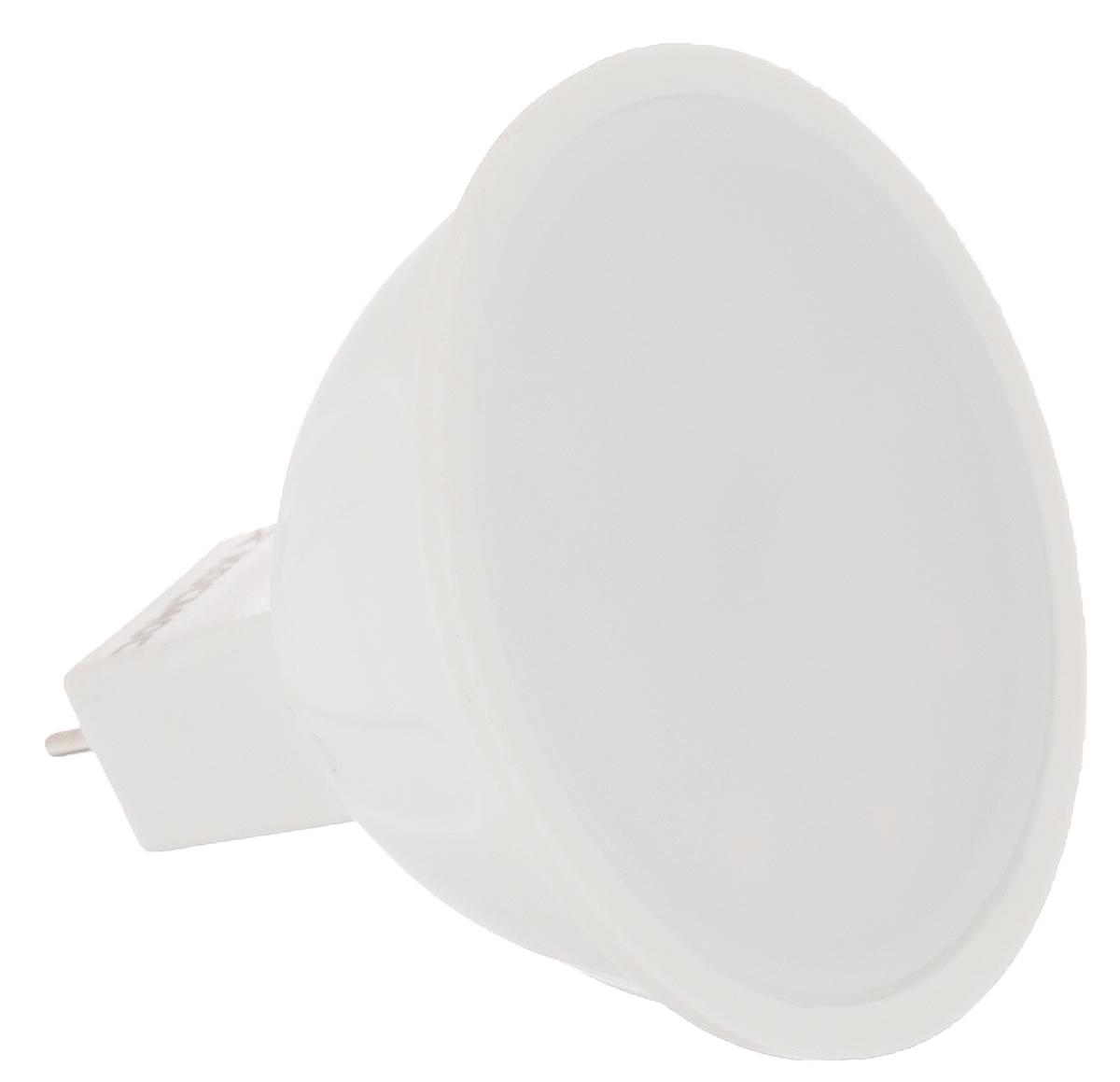 Светодиодная лампа Kosmos, белый свет, цоколь GU5.3, 5WC0027374Энергосберегающая лампа Kosmos - это инновационное решение, разработанное на основе новейших светодиодных технологий (LED) для эффективной замены любых видов галогенных или обыкновенных ламп накаливания во всех типах осветительных приборов. Она хорошо подойдет для создания рабочей атмосферыв производственных и общественных зданиях, спортивных и торговых залах, в офисах и учреждениях. Лампа не содержит ртути и других вредных веществ, экологически безопасна и не требует утилизации, не выделяет при работе ультрафиолетовое и инфракрасное излучение. Исполнена в пластиковом корпусе. Оснащена рефлекторным рассеивателем.Напряжение: 220-240 В. Использовать при температуре: от -40° до +50°.