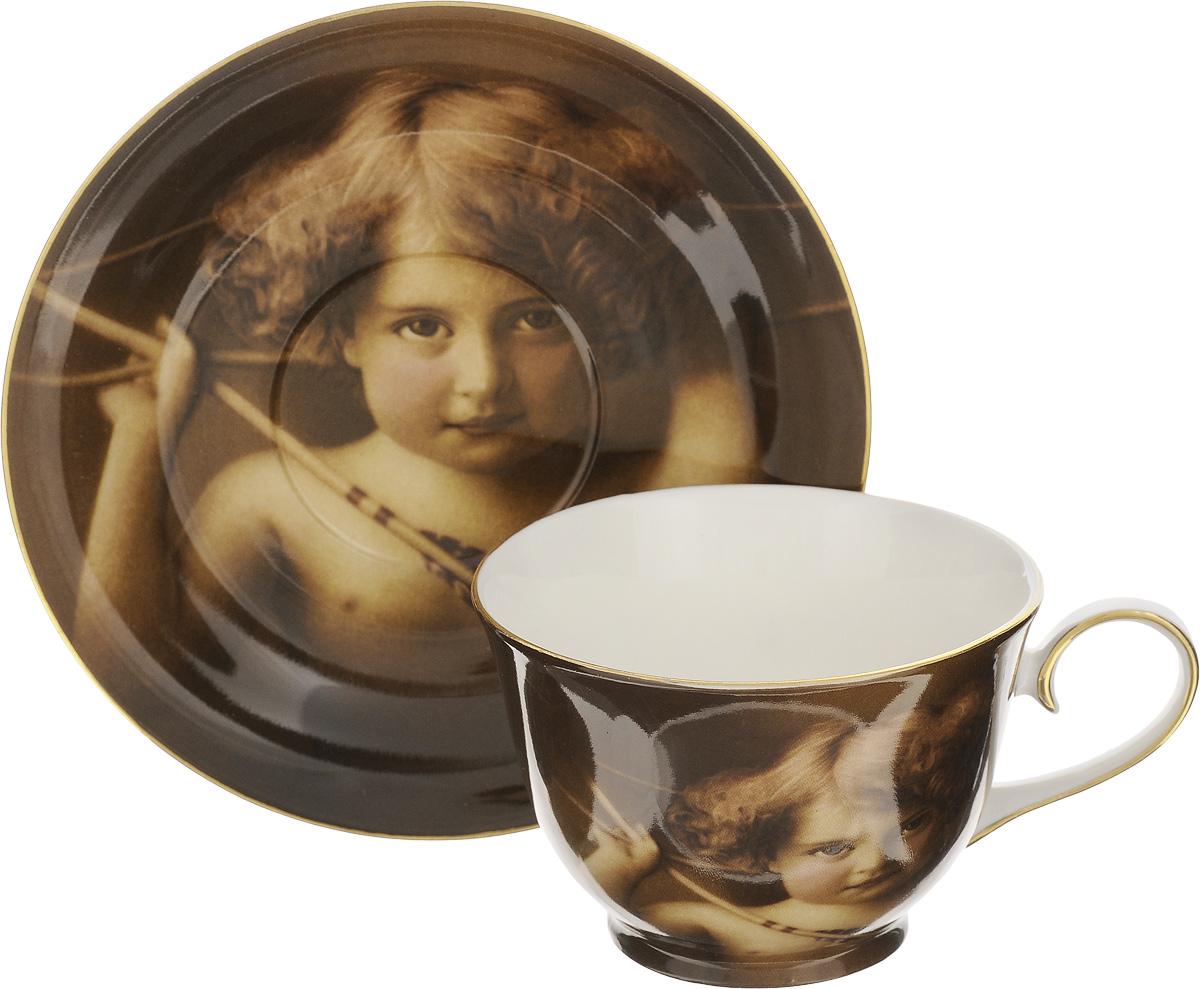 Чайная пара Patricia Амур, 2 предметаVT-1520(SR)Чайная пара Patricia Амур состоит из чашки и блюдца. Изделия, изготовленные из фарфора высшего качества, имеют изысканный внешний вид и декорированы золотистой каймой. Чайная пара Patricia Амур украсит ваш кухонный стол, а также станет замечательным подарком к любому празднику.Не рекомендуется мыть в посудомоечной машине и использовать в микроволновой печи.Объем чашки: 200 мл.Диаметр чашки (по верхнему краю): 9,8 см.Высота чашки: 6,7 см.Диаметр блюдца: 15,5 см.Высота блюдца: 2,2 см.