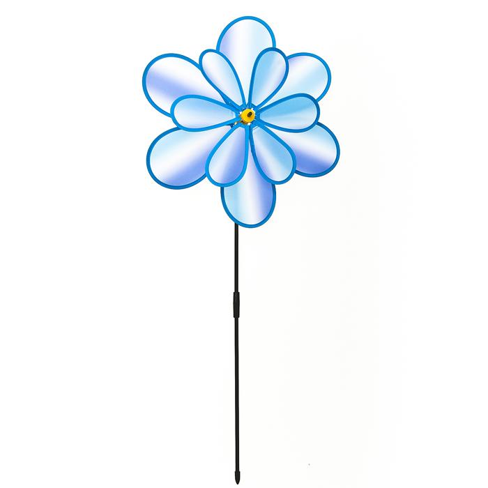 Декоративная фигура-вертушка Village people Радужный цветок, цвет: синий. 66926_366926_3Ветряная фигурка-вертушка Village People Радужный цветок, изготовленная из нейлона и пластика, это не только игрушка, но и замечательный способ отпугнуть птиц с грядок. Изделие выполнено в виде жука и располагается на палочке. Яркий дизайн изделия оживит ландшафт сада или огорода.