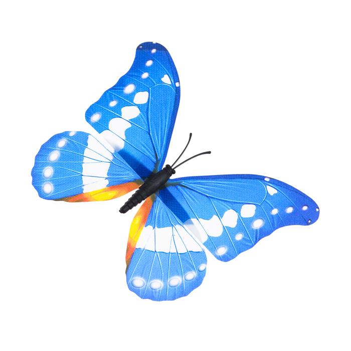 Украшение декоративное Village People Тропическая бабочка, с магнитом, цвет: голубой, 12 х 8 см. 68610_668610_6Декоративная фигурка Village People Тропическая бабочка изготовлена из ПВХ. Изделие выполнено в виде бабочки и оснащено магнитом, с помощью которого вы сможете поместить изделие в любом удобном для вас месте. Это не только красивое украшение, но и замечательный способ отпугнуть птиц с грядок. Яркий дизайн фигурки оживит ландшафт сада.