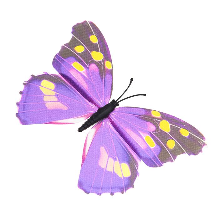 Украшение декоративное Village People Тропическая бабочка, с магнитом, цвет: сиреневый, 12 х 8 см. 68610_568610_5Декоративная фигурка Village People Тропическая бабочка изготовлена из ПВХ. Изделие выполнено в виде бабочки и оснащено магнитом, с помощью которого вы сможете поместить изделие в любом удобном для вас месте. Это не только красивое украшение, но и замечательный способ отпугнуть птиц с грядок. Яркий дизайн фигурки оживит ландшафт сада.