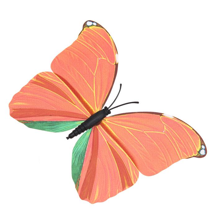 Украшение декоративное Village People Тропическая бабочка, с магнитом, цвет: красный, 12 х 8 см. 68610_468610_4Декоративная фигурка Village People Тропическая бабочка изготовлена из ПВХ. Изделие выполнено в виде бабочки и оснащено магнитом, с помощью которого вы сможете поместить изделие в любом удобном для вас месте. Это не только красивое украшение, но и замечательный способ отпугнуть птиц с грядок. Яркий дизайн фигурки оживит ландшафт сада.