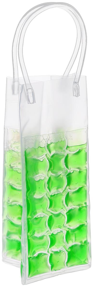 Сумка-термос Tescoma Mydrink, цвет: зеленый, 10 х 9 х 25 смPackit0009Сумка-термос Tescoma Mydrink предназначена для поддержания идеальной температуры холодных напитков жарким летом. Отлично подходит для сервировки белых, розовых вин и других прохладительных напитков в саду, на террасе и в доме. Изделие оснащено ручками, которые облегчают их переноску. Рекомендуется помещать сумку-термос перед каждым использованием на 8 часов в холодильник, затем вынуть и вложить в нее охлажденный напиток. Не подходит для использования в морозильной камере. Размер сумки-термоса (без учета ручек): 10 х 9 х 25 см.