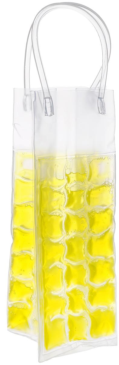 Сумка-термос Tescoma Mydrink, цвет: желтый, 10 х 9 х 25 см96515412Сумка-термос Tescoma Mydrink предназначена для поддержания идеальной температуры холодных напитков жарким летом. Отлично подходит для сервировки белых, розовых вин и других прохладительных напитков в саду, на террасе и в доме. Изделие оснащено ручками, которые облегчают их переноску. Рекомендуется помещать сумку-термос перед каждым использованием по крайней мере на 8 часов в холодильник, затем вынуть и вложить в нее охлажденный напиток. Не подходит для использования в морозильной камере. Размер сумки-термоса (без учета ручек): 10 х 9 х 25 см.