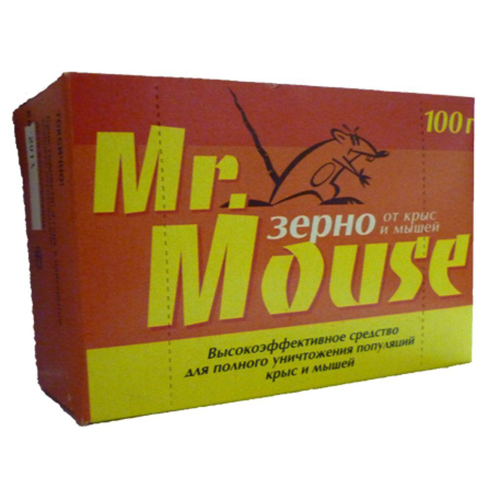 Зерновая приманка Mr.Mouse, 100 г. СЗ.040006 средство защитное грызунофф зерновая приманка 100 г в пакете и коробочке